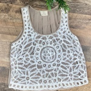 Anthropologie Crochet Design Blouse/Tank Size M